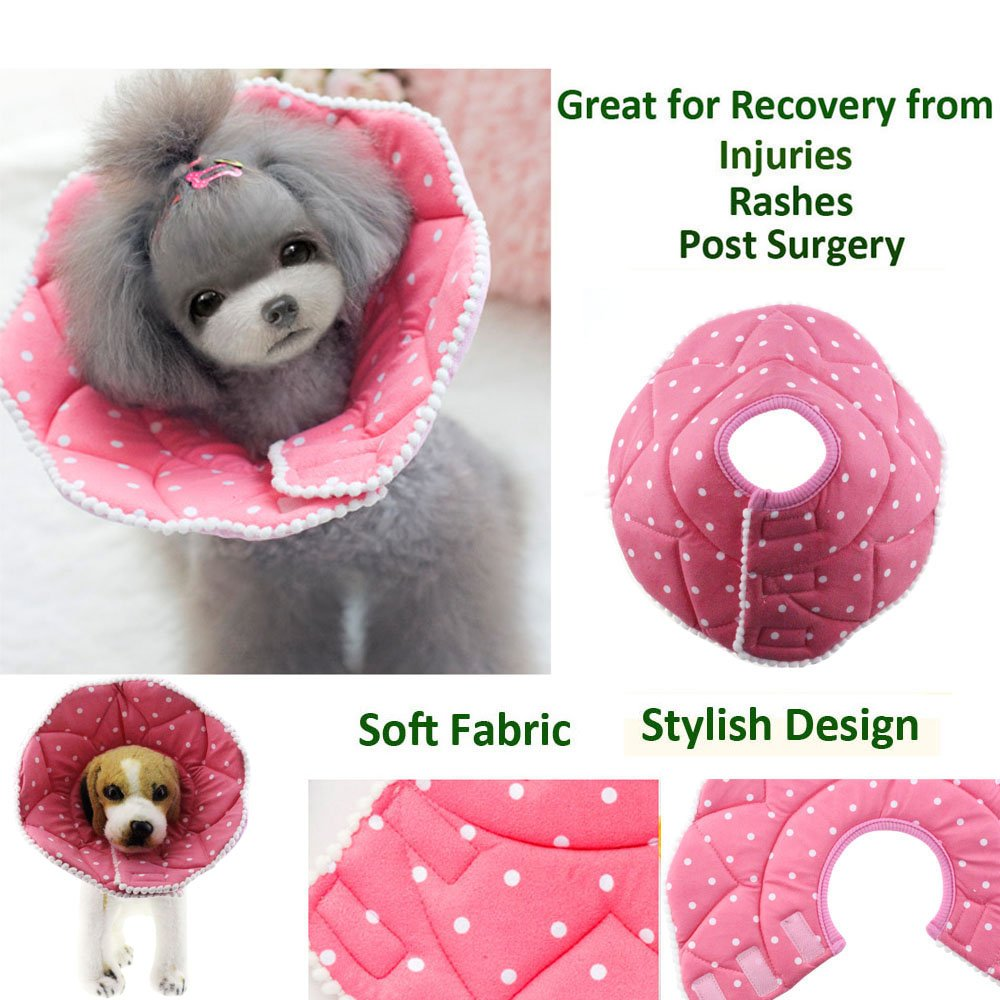 Bolbove Pink Dots Pet Soft & Stylish Cone Recovery E-Collar for Dogs & Cats (5#) by Bolbove (Image #2)