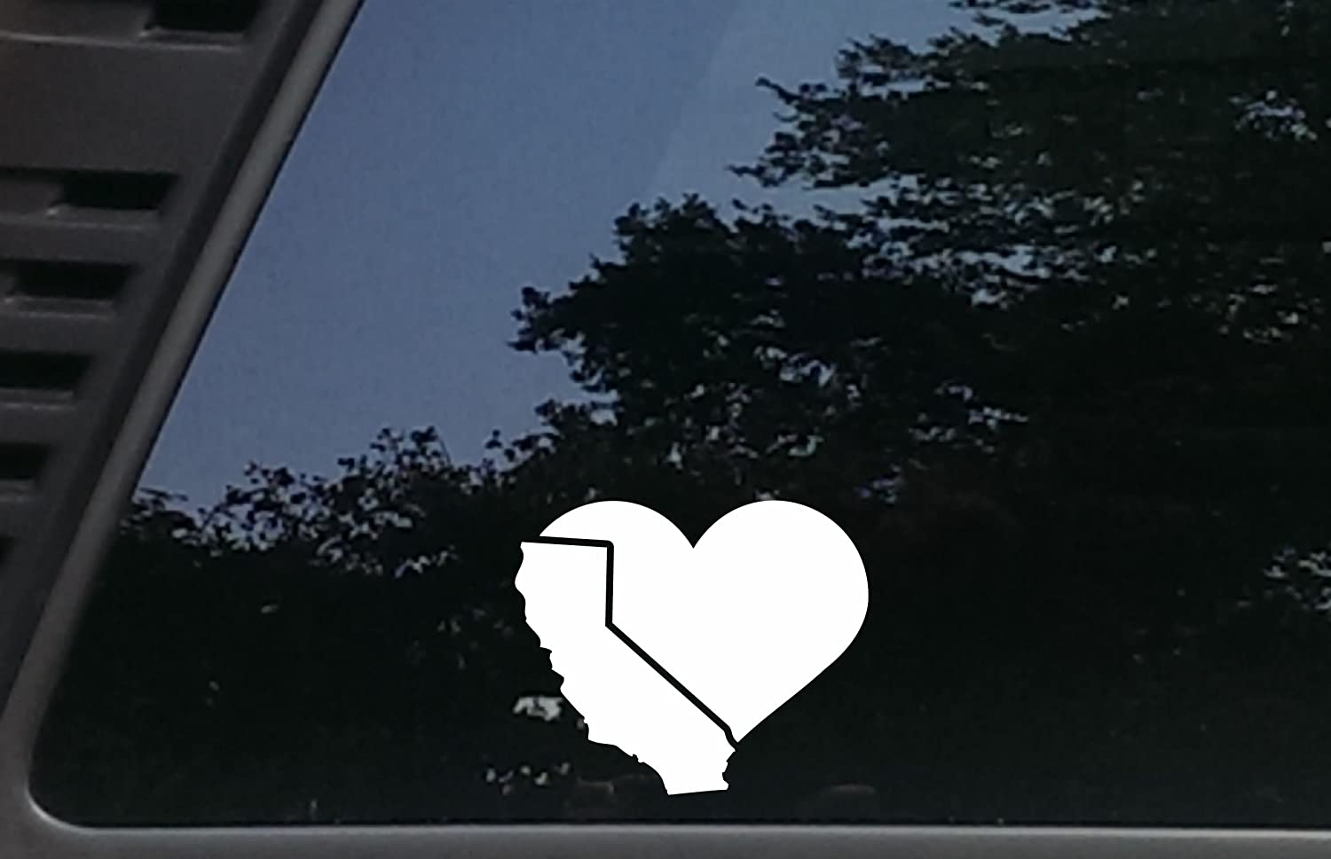 """California is in my Heart - 4 1/2"""" x 3 3/4""""die cut vinyl decal for cars, trucks, windows, boats, tool boxes, laptops, etc"""