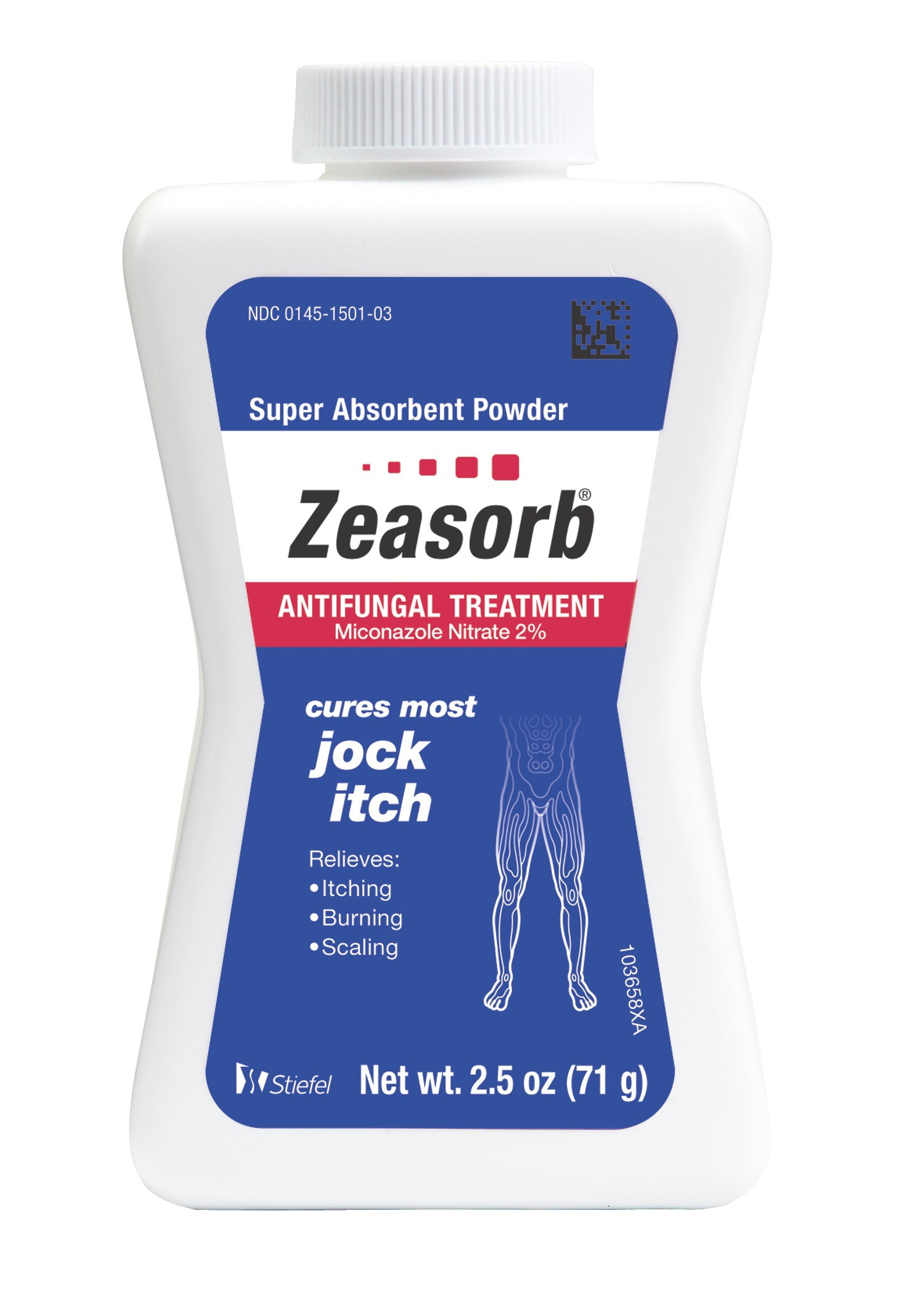 Zeasorb Antifungal Treatment Powder, Jock Itch, 2.5 Ounce (Pack of 2)