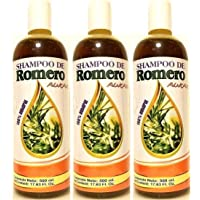 3x Shampoo De ROMERO Aukar 100% Natural Auxiliary Treatments Prevents HAIR Loss