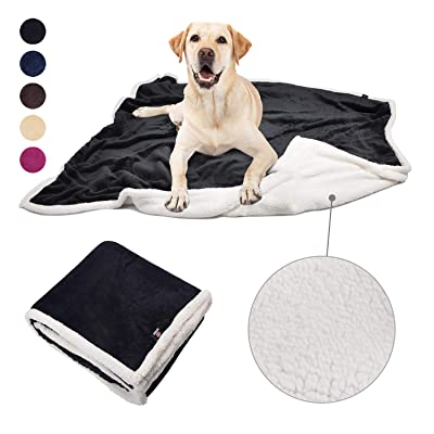 Pawsse Large Dog Blanket,Super Soft Fluffy Sherpa Fleece Dog Couch Blankets and Throws