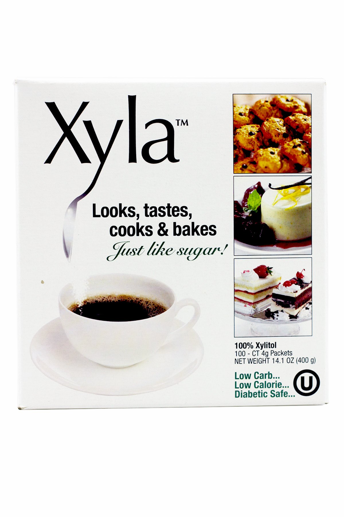 Xylitol 100 Count Packets (Single Pack) by Xyla