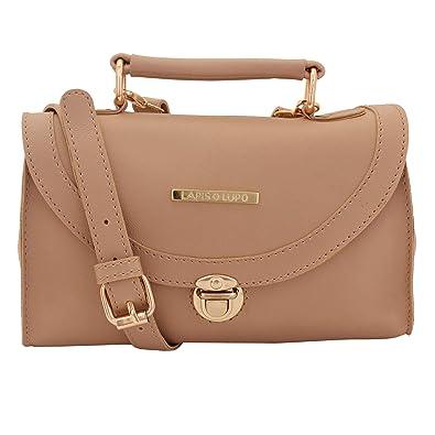 Lapis O Lupo Sepia Beige Women Sling Bag (Beige)  Amazon.in  Shoes    Handbags cf40968d9f645