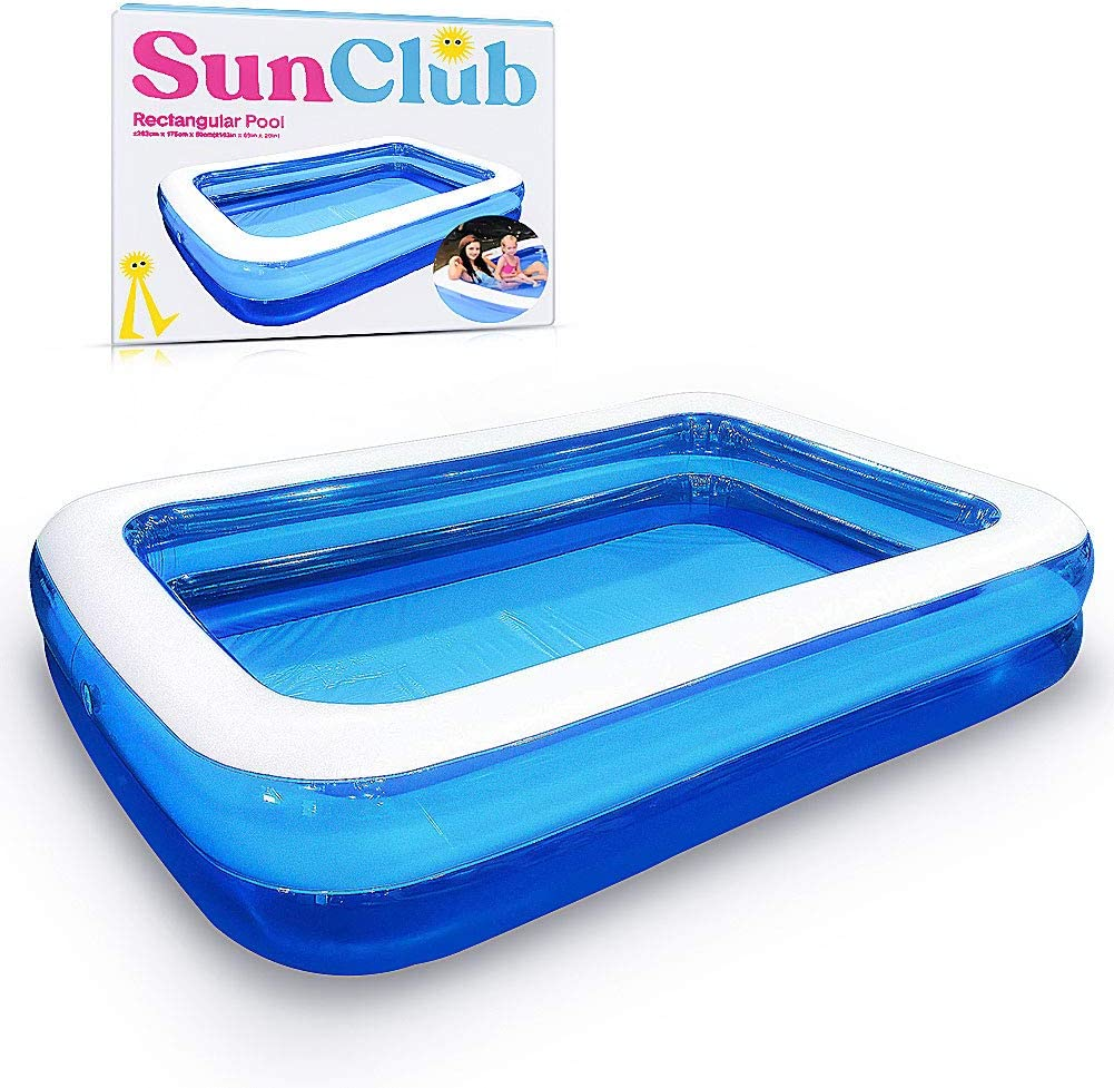 Huinsh Inflatable Swimming Pools Above Ground Blow Up Pools For Kids And Adults Big Pools For Backyard Garden Outside 103 69 20 Family Pool Garden Outdoor