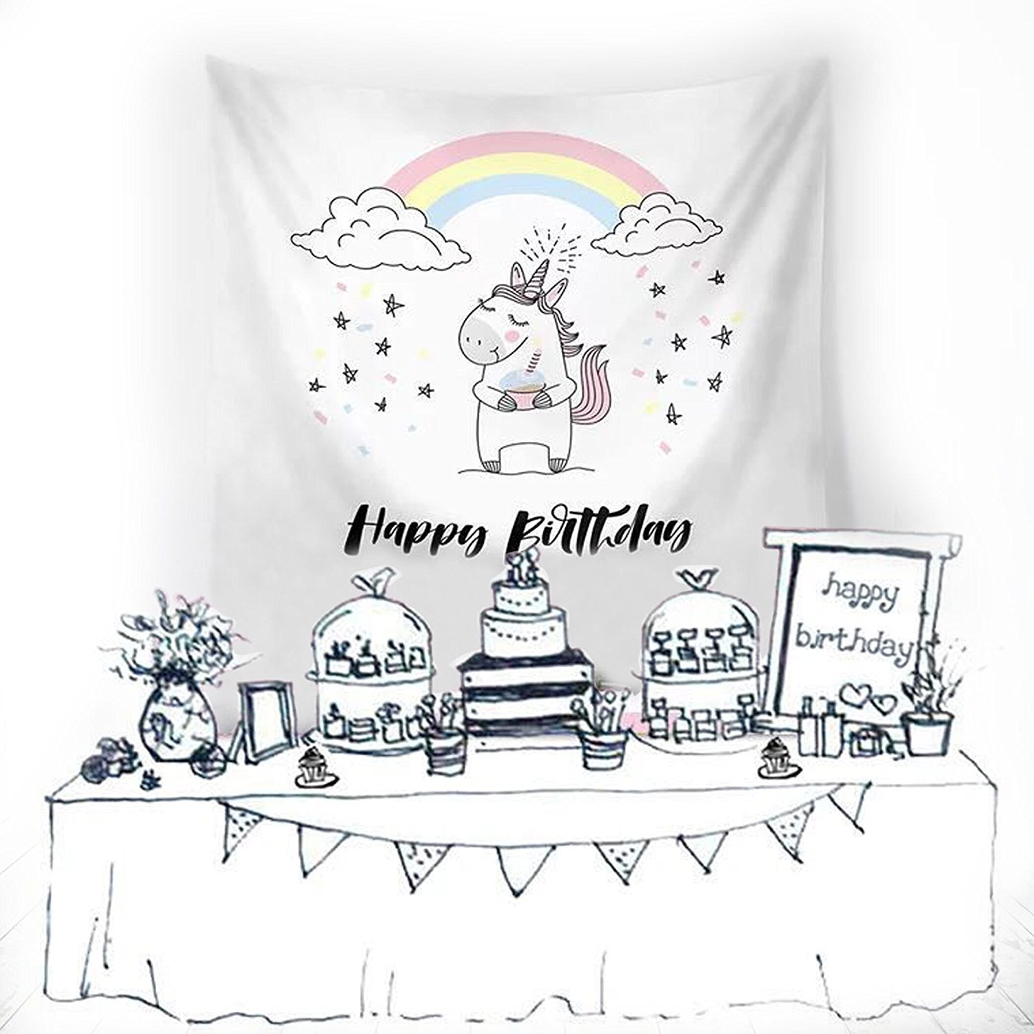 12 Pack Unicorn Gift Bags Drawstring Party Bag Unicorn Party Favors,10.6 * 13.4