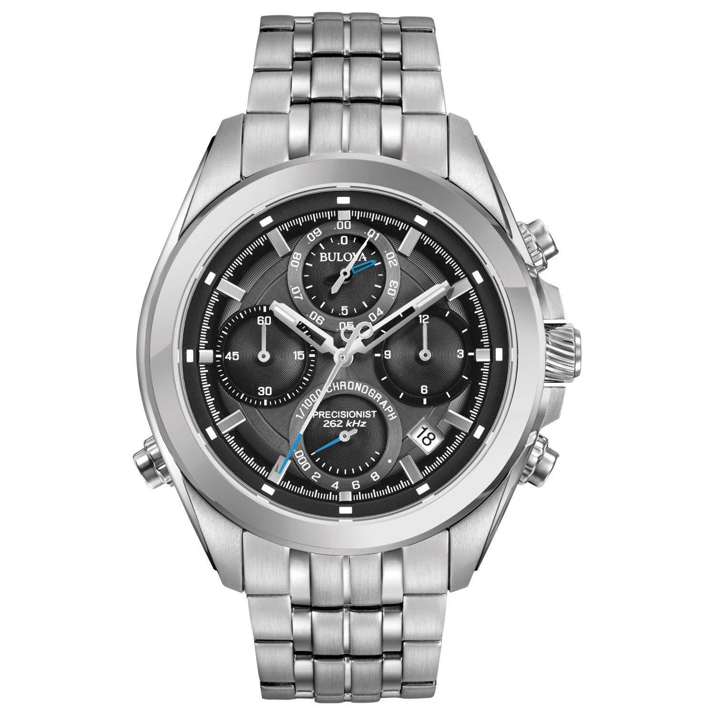 Bulova Men s 45mm Precisionist Stainless Steel Chronograph Watch
