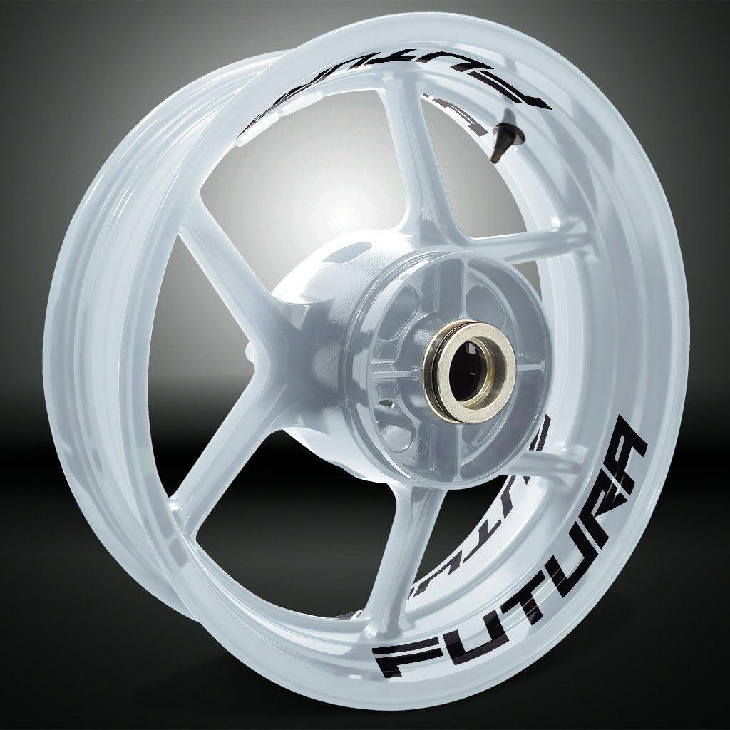 Negro Brillante Motocicleta Moto Llanta Inner Rim Tape Decal Pegatinas para Aprilia Futura 1000