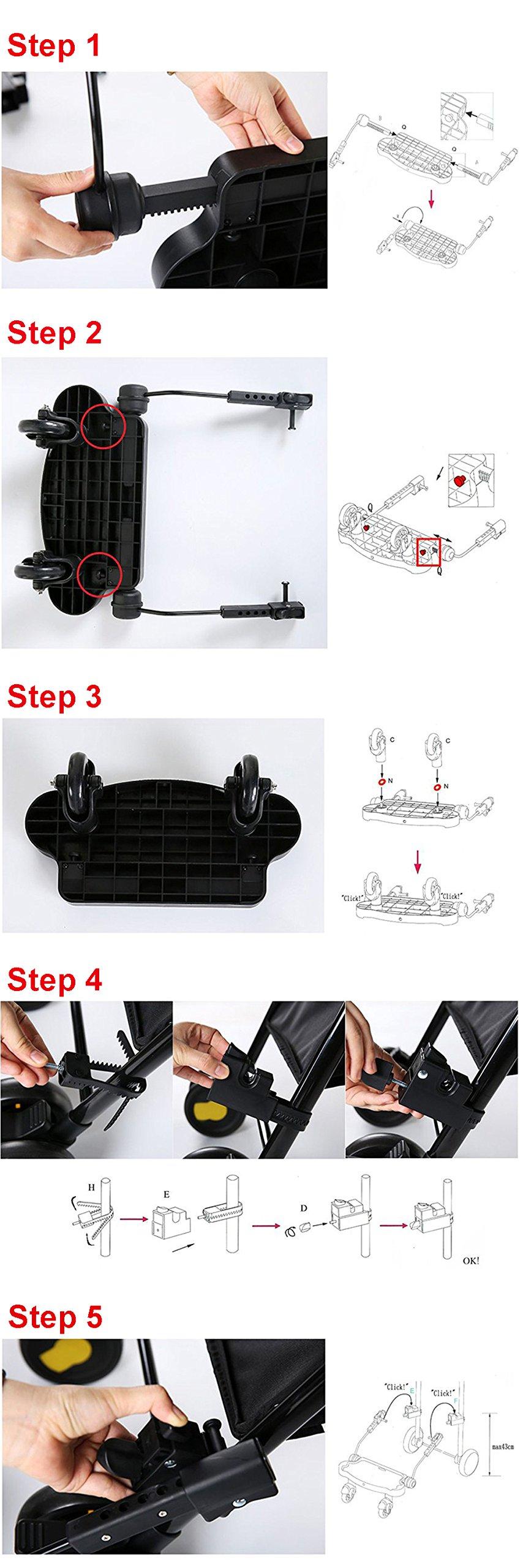 Zerlar Universal Ride-On Stroller Board Stroller Connectors by Zerlar (Image #6)