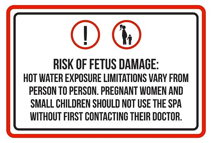 Advertencia de riesgo de dañar el feto piscina Spa cartel ...