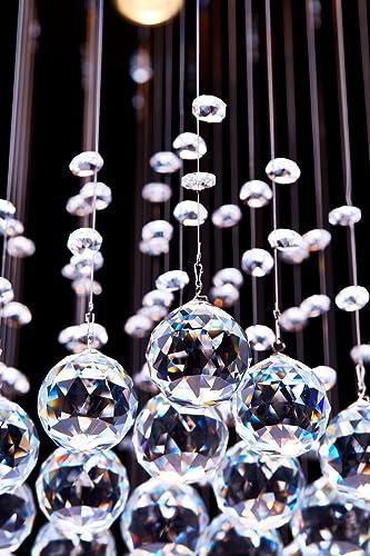 Saint Mossi K9 Crystal Rain Drop Chandelier Modern Contemporary Ceiling Pendant Light H22 X W16 X L16