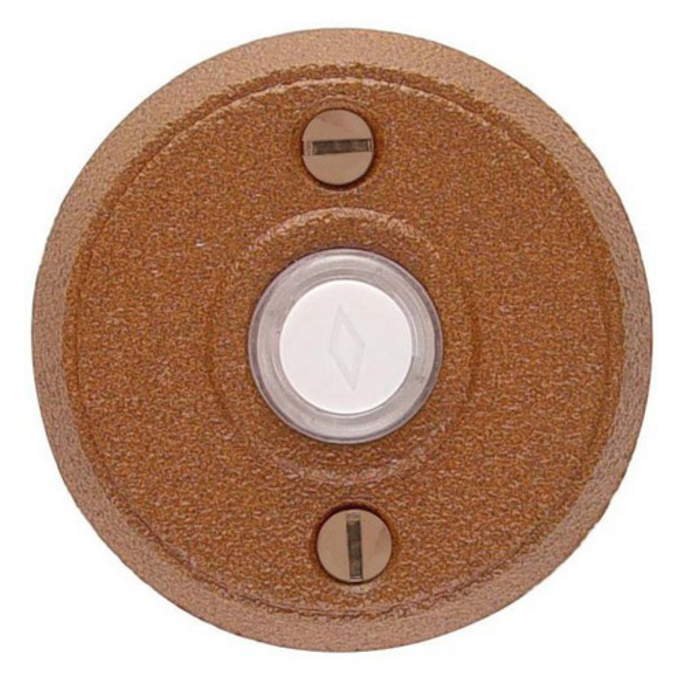 Emtek 2432 2-5/8'' Diameter Round Style Steel Lighted Doorbell Rosette from the W, Satin Steel