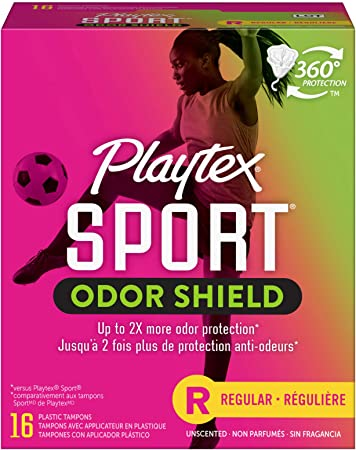 Playtex Sport Fresh Balance Tampons with Odor Shield Technology, Regular, UnScented - 16 Count