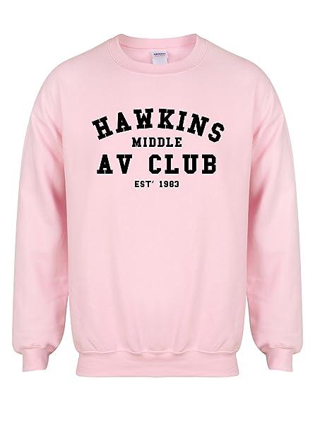 Unisex Slogan Sweater Jumper Hawkins Middle AV Club ae7fc82ca835f