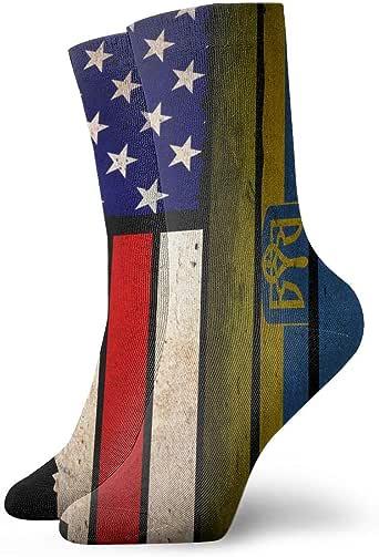 LCYYDECO Mujeres Hombres Vintage USA Ucrania Bandera Cojín Calcetines Tobilleros: Amazon.es: Ropa y accesorios