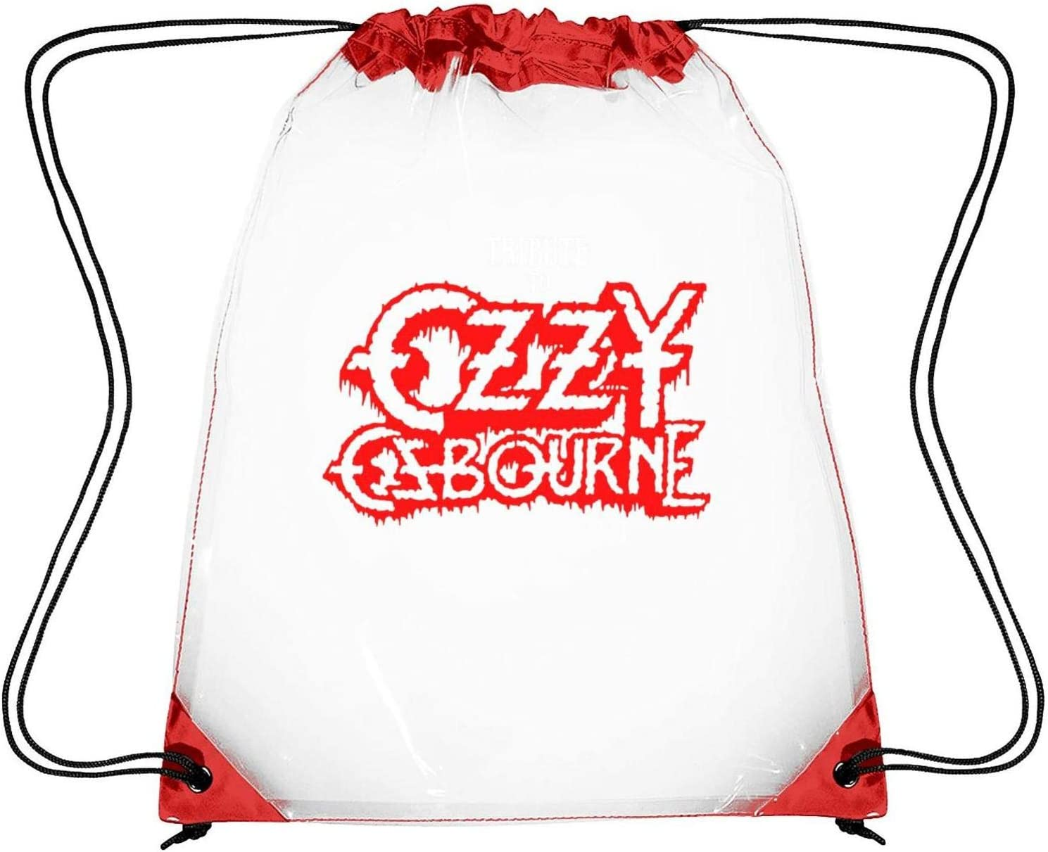 CAPXIEeY Clear Drawstring Backpack Ozzy Osbourne Mr Crowley Dancing Bag Gym Sports Travel Sack Pack for Men Women