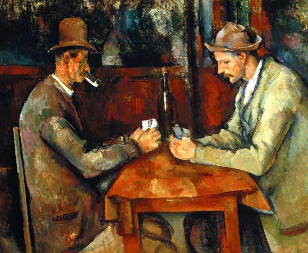 Kunst für Alle Impresión artística/Póster: Paul Cézanne Die Kartenspieler - Impresión, Foto, póster artístico, 90x75 cm