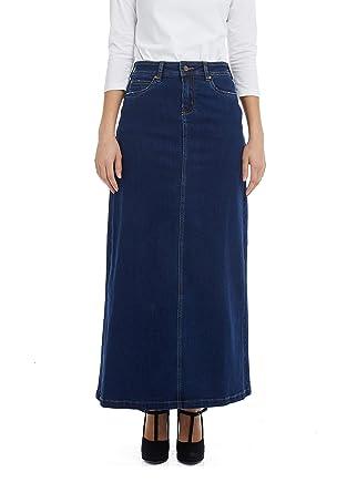 c49e96138 Esteez Women's Denim Maxi Skirt- A-Line Stretch Jean - Georgia at ...