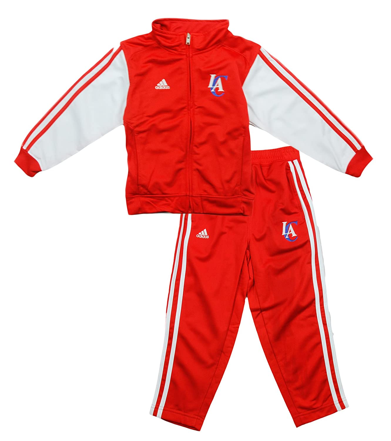 Los Angeles Clippers NBA Toddler Boys Full Zip 2 Piece Track Jacket and Pant Set, Red Red (2T Red)