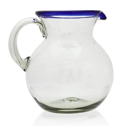 Jarra Grande (2 litros), soplado artesanal a partir de vidrio reciclado en México