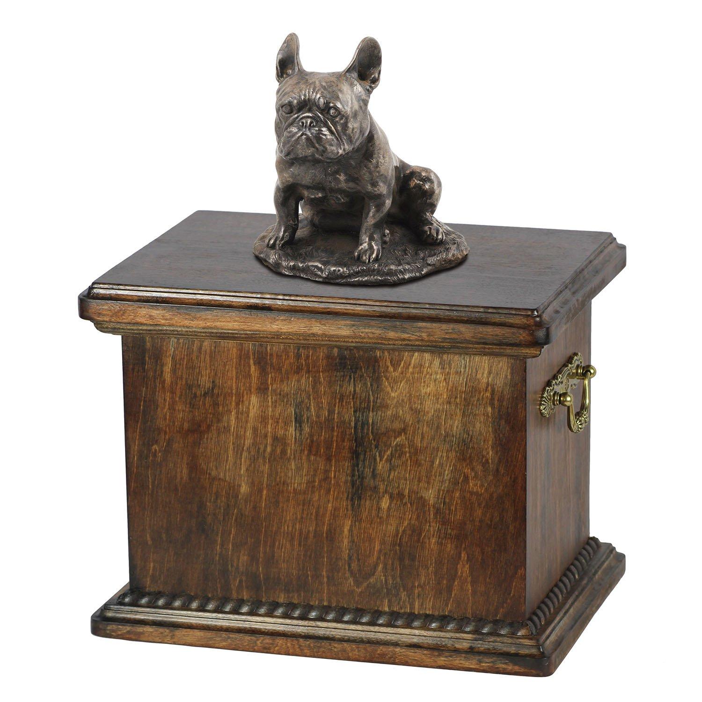 Französisch Bulldog (sitzend), Memorial, Urne für Hunde Asche, mit Hund Statue, ArtDog