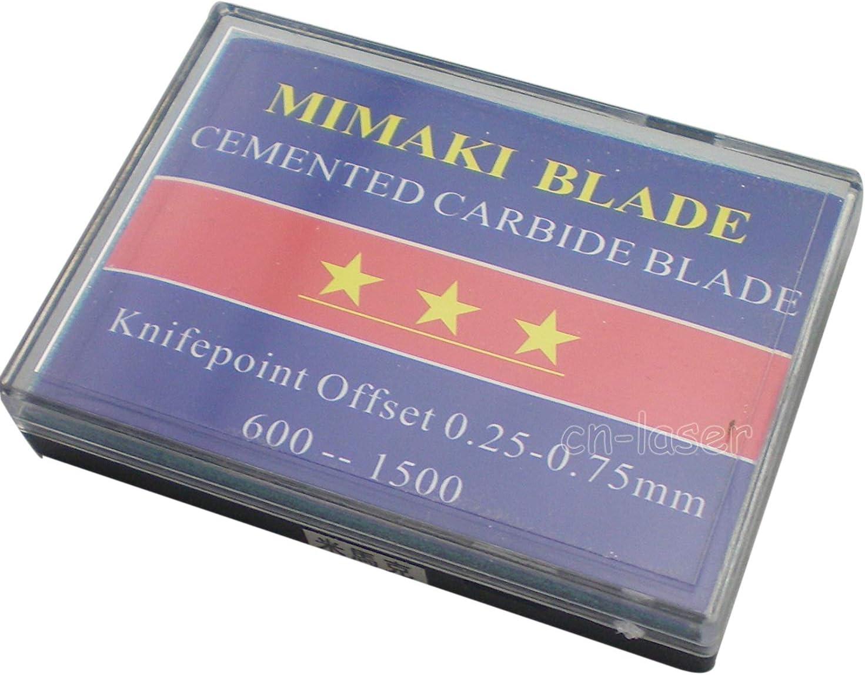 Blade Holder & 15 x HQ cuchillas de repuesto para cortador de Mimaki – Rollo Cole 30 45 60 grados: Amazon.es: Bricolaje y herramientas