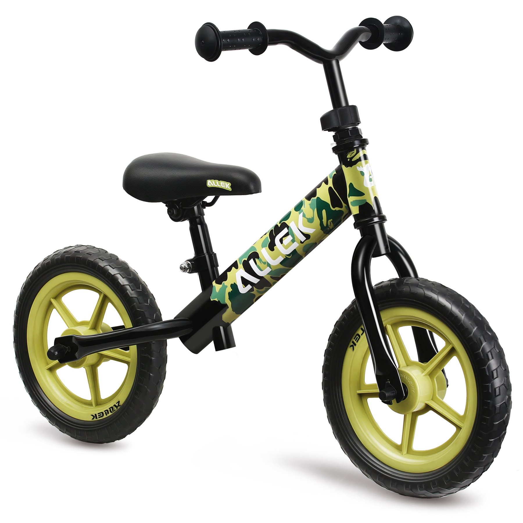Allek Balance Bike for Kids & Toddlers, 12'' No-Pedal Balance Bike for Kids Boys Girls- Perfect for Balance Training Your 18 Month to 6 years Old Child (Camouflage)