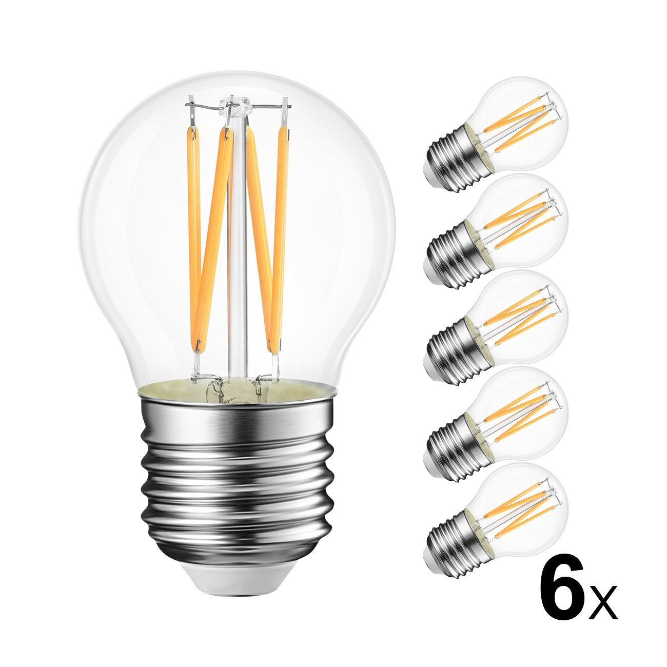 10x 40w Golfball Incandescent Dimmable Standard Clear ES E27 Light Bulb Lamp