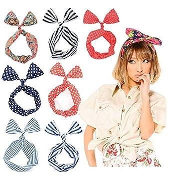 0752cdeccb7d Femme souple Twist Nœud Lapin oreille filaire Bandeaux Bandeau Bandeau  Foulard Sweet Attaches de tête accessoire