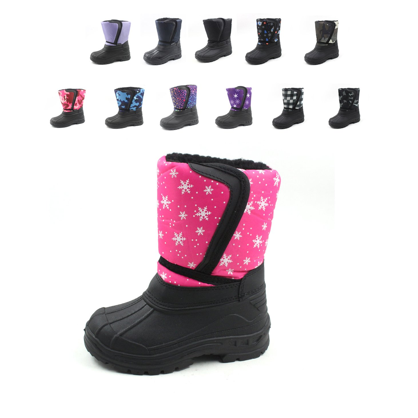 Ska-Doo Cold Weather Snow Boot 1319 Pink Snowflakes Size 10