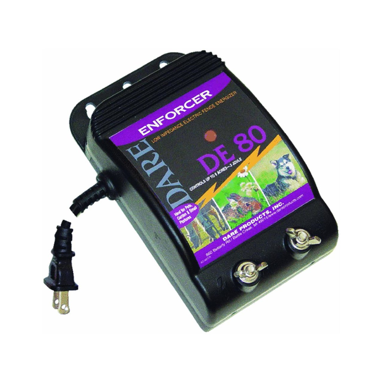 Dare Electric Fence Energizer 2 Joule Agricultural Ultrasonic Pest Repeller Circuit Diagram Tradeoficcom Livestock Chargers Garden Outdoor