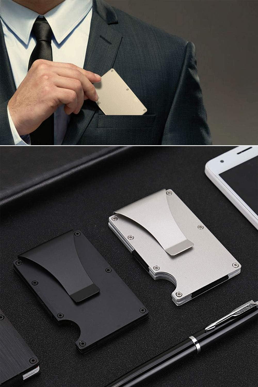 MUCO Porte-Cartes de cr/édit avec Protection RFID l/ég/ère en m/étal pour Homme et Femme/…