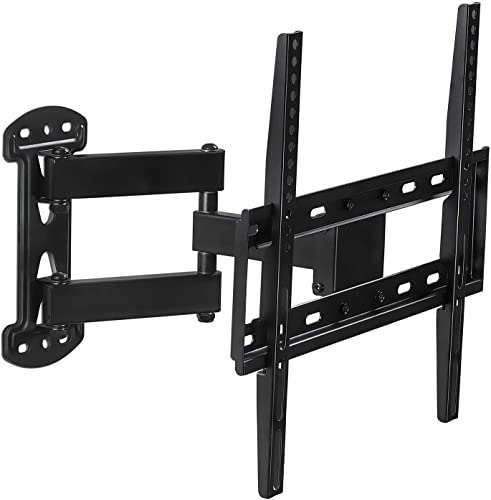 Mount-It Full Motion TV Wall Mount Corner Bracket, VESA 400 x 400 Compatible, Extending Arm Articulating, Swivel, Tilt Fits 32, 37, 40, 42, 47, 50 Inch TVs, 66 Lbs Capacity Black