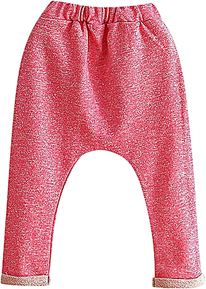 Sweety Unisex Kids Plain Solid Color Soft Pull On Cotton Harem Sweatpants