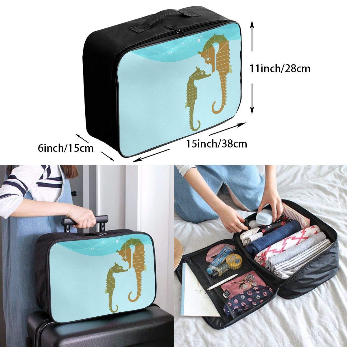 Travel Luggage Duffle Bag Lightweight Portable Handbag Sea Horse Large Capacity Waterproof Foldable Storage Tote