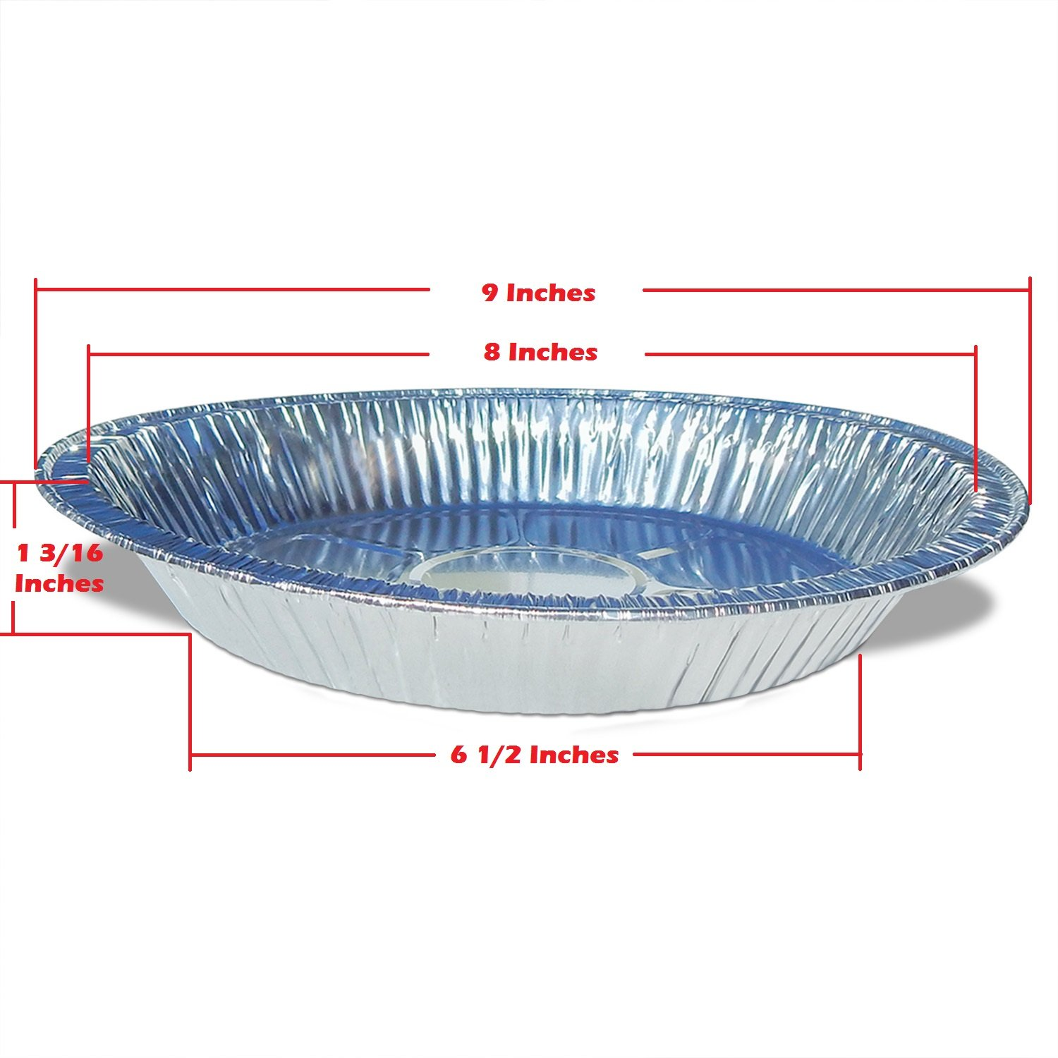 Amazon.com Premium 9  Aluminum Foil Pie Pans. Disposable Tin Plates for Pies Tart Quiche. (Pack of 50) Kitchen u0026 Dining  sc 1 st  Amazon.com & Amazon.com: Premium 9