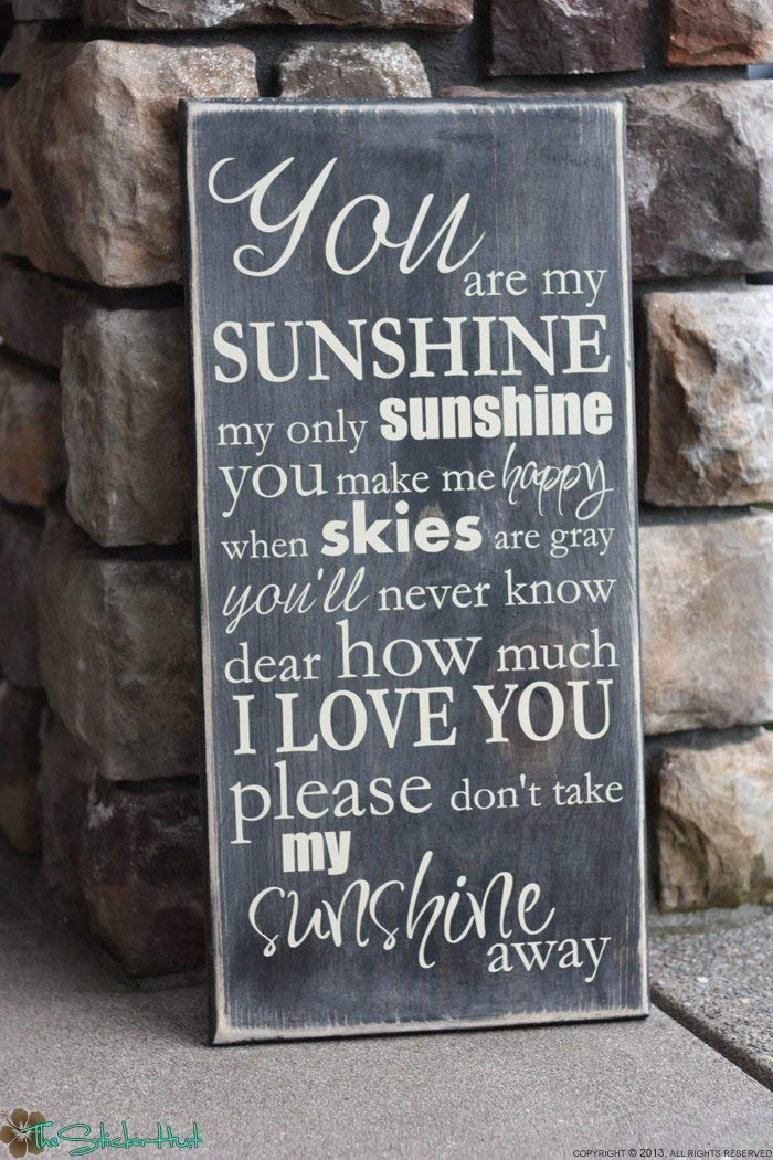Emily You are My Sunshine My Only Sunshine Quote Saying Distressed Sign Wall Sign Wall Art Rustic Sign Home Wood Sign Funny Craft Wall Decor Plaque wood plaque