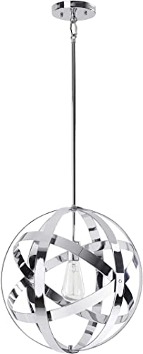 Kenroy Home Classic 1 Light Pendant ,16 Inch Height, 16 Inch Width with Chrome Finish