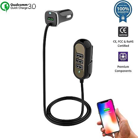 Amazon.com: Cargador de coche USB encendedor adaptador de ...