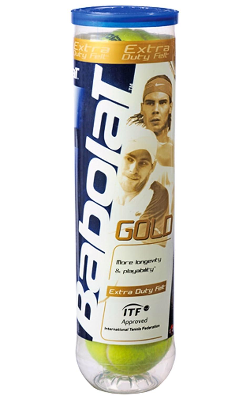 Giallo colore Tubo da 4 palline da tennis Gold Babolat 502012