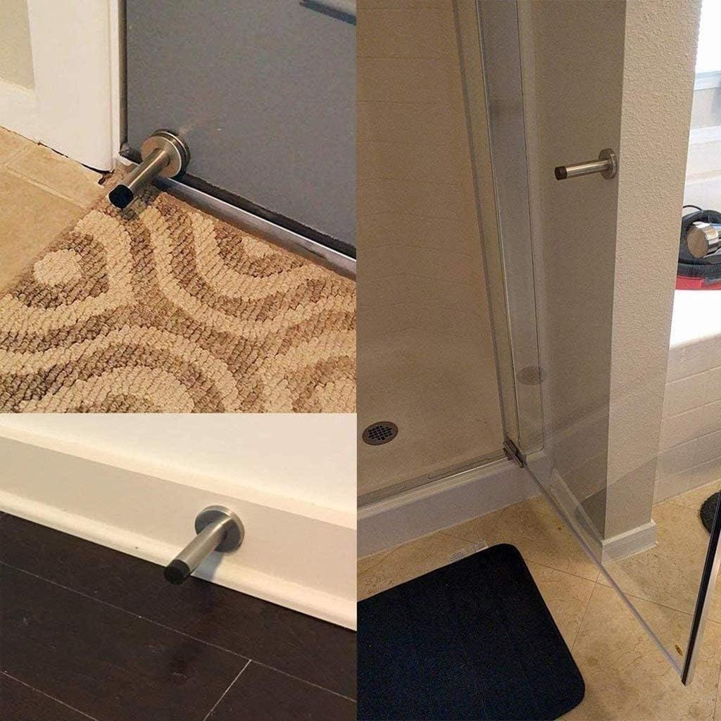 Guoguocy Door Stops Door Stop,Door Touch,Door Stop Stopper Wall Mounted Mount Doorstop Heavy Duty Stainless Steel Rubber Buffer T,30cm Size : 35cm