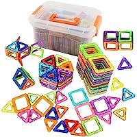 95 قطعة من مكعبات البناء المغناطيسية يمكنك صنعها بنفسك مكعبات البناء لتعليم الاطفال، تمثل خيار هدية مثالي للاطفال مع…