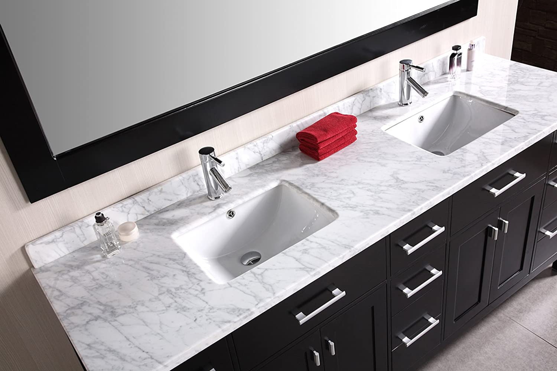 Beautiful Design Element DEC088 London 78 Inch Double Sink Vanity Set   Vanity  Mirrors   Amazon.com