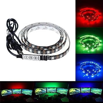 Color Changing Led Light Strips Delectable Amazon Litupliv USB LED Light Strip 60m 6060ft Bias Lighting