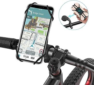 SAWAKE Soporte Movil Bicicleta y Moto, Porta Desmontable Teléfono Montaña Universal Soporte 360° Rotación de 4.0-6.8