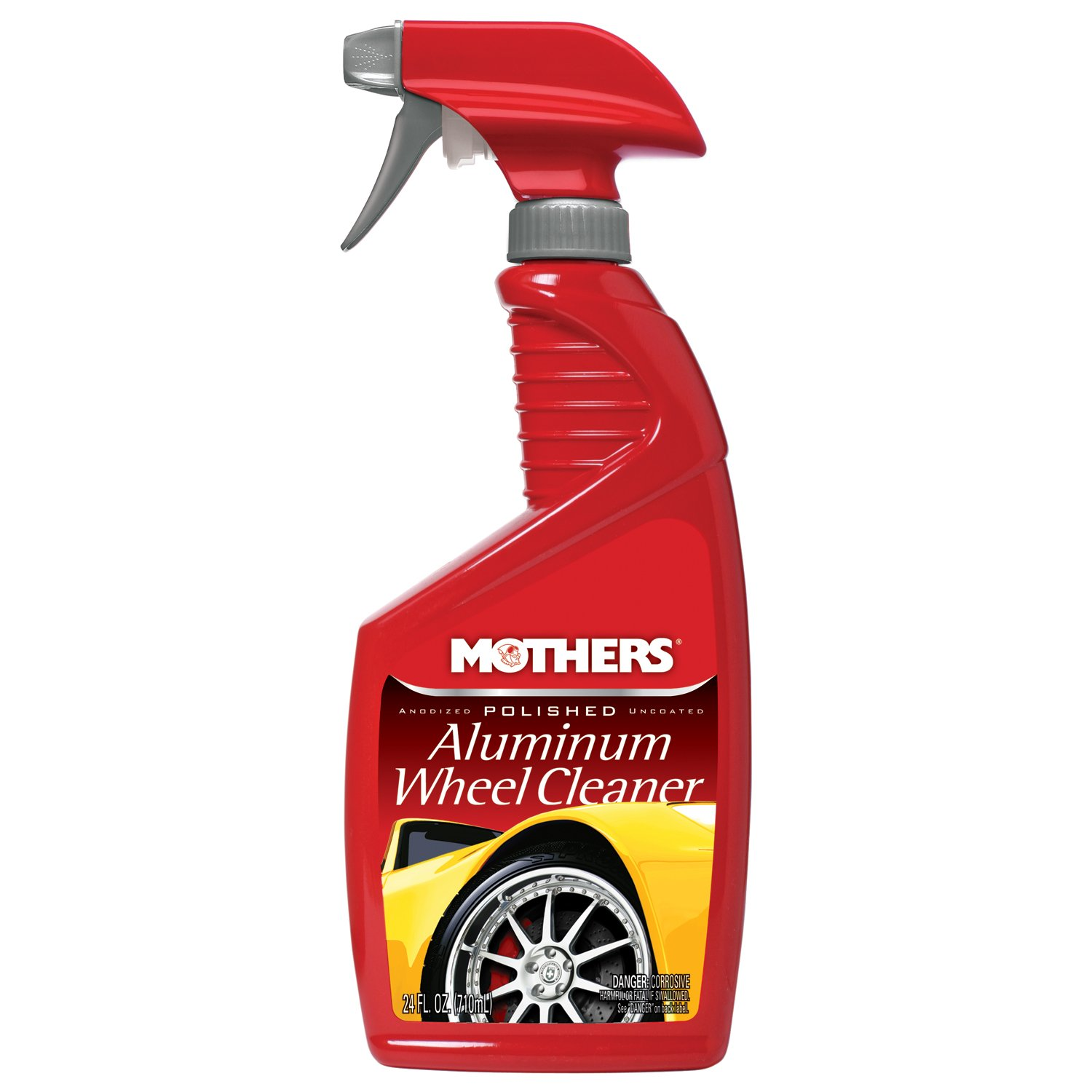 Mothers 06024-6 Polished Aluminum Wheel Cleaner - 24 oz, (Pack of 6)