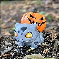 Halloween Pompoen Pokemon, Halloween Decoratie Pumpkasaur Pompoen met afneembare top, kan Led Licht inbrengen, Tuin…