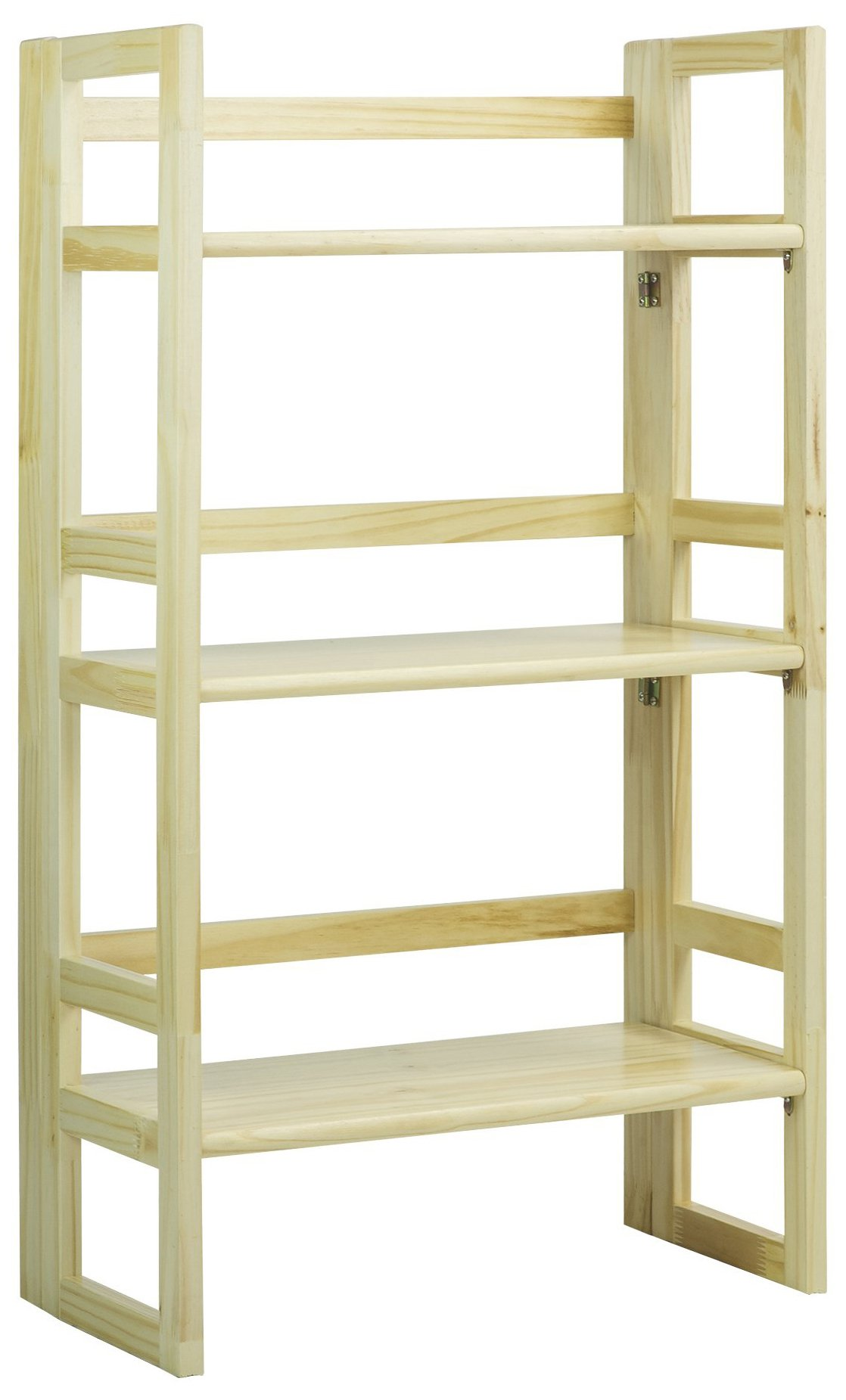Casual Home 3-Shelf Folding Student Bookcase (20.75'' Wide)-Natural