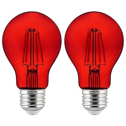 Amazon.com: Sunlite 81082 A19 - Bombilla LED (filamento ...