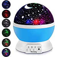 Moredig Projection Light Night Lighting Star Projector lamp with 8 Multicolor 360Rotation with 6.5ft USB Cable