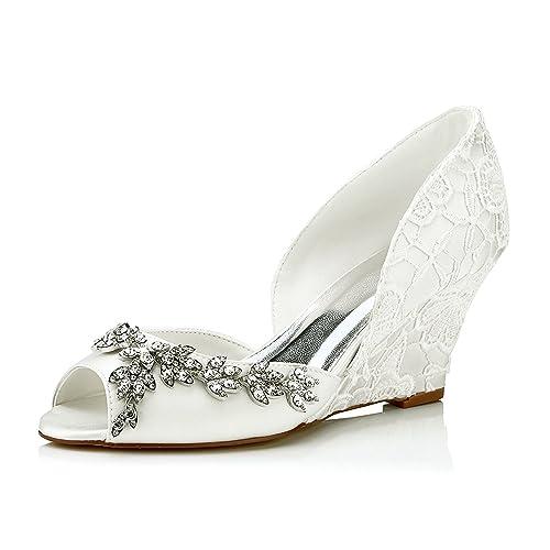 JIA JIA Wedding 3704A Chaussures de mariée Mariage Escarpins pour Femme Chaussures